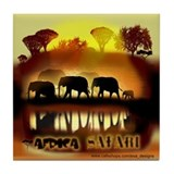 Africa Elephant Safari Tile Coaster