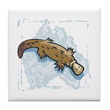 Australian Duckbill Platypus Tile Coaster