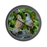 Quail Wall clock