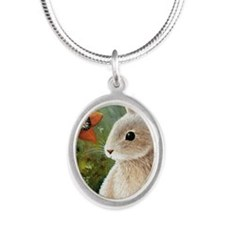 Hare 55 Silver Oval Necklace