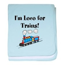 Loco for Trains baby blanket
