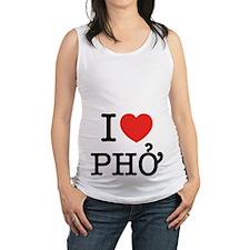 I Love (Heart) Pho Maternity Tank Top