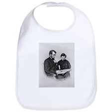 Lincoln Reading to Son Tod Bib