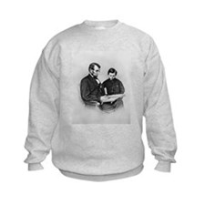 Lincoln Reading to Son Tod Sweatshirt