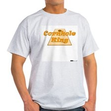 Cornhole King Ash Grey T-Shirt