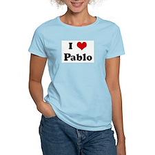 I Love Pablo Women's Pink T-Shirt