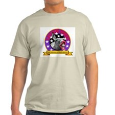 LAUGHING DONKEY LOGO Ash Grey T-Shirt