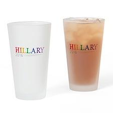 Rainbow Hillary 2016 Drinking Glass