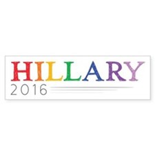 Rainbow Hillary 2016 Bumper Sticker