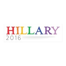 Rainbow Hillary 2016 Wall Decal