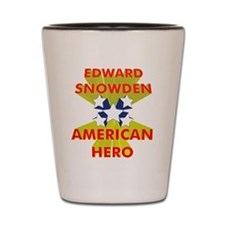 EDWARD SNOWDEN AMERICAN HERO Shot Glass