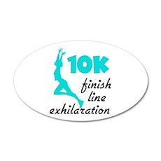 10K Aqua Finish Line 20x12 Oval Wall Decal