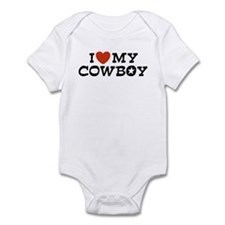 I Love My Cowboy Infant Bodysuit