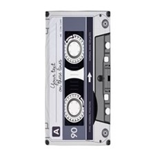 Customizable Cassette Tape - Grey Beach Towel