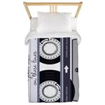 Customizable Cassette Tape - Grey Twin Duvet