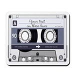 Customizable Cassette Tape - Grey Mousepad