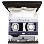 Customizable Cassette Tape - Grey King Duvet