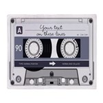 Customizable Cassette Tape - Grey Throw Blanket