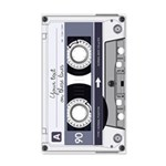 Customizable Cassette Tape - Grey 35x21 Wall Decal