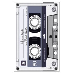 Customizable Cassette Tape - Grey Posters