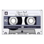 Customizable Cassette Tape - Grey Sticker (Rectang