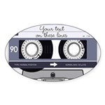 Customizable Cassette Tape - Grey Sticker (Oval 50