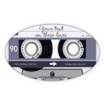 Customizable Cassette Tape - Grey Sticker (Oval 10