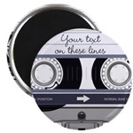Customizable Cassette Tape - Grey 2.25