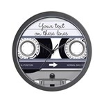 Customizable Cassette Tape - Grey Wall Clock
