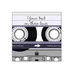 Customizable Cassette Tape - Grey Square Sticker 3