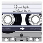 Customizable Cassette Tape - Grey 5.25 x 5.25 Flat