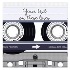 Customizable Cassette Tape Invitations