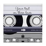 Customizable Cassette Tape - Grey Tile Coaster
