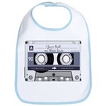 Customizable Cassette Tape - Grey Bib