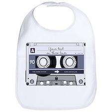 Customizable Cassette Tape - Grey Bib