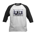 Customizable Cassette Tape - Grey Kids Baseball Je