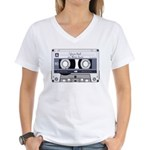 Customizable Cassette Tape - Grey Women's V-Neck T