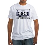 Customizable Cassette Tape - Grey Fitted T-Shirt