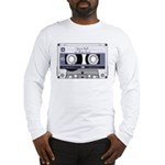 Customizable Cassette Tape - Grey Long Sleeve T-Sh