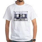 Customizable Cassette Tape - Grey White T-Shirt