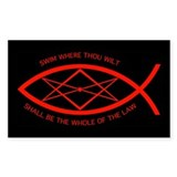 Thelema Fish Rectangle Decal
