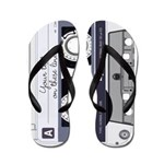 Customizable Cassette Tape - Grey Flip Flops