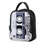 Customizable Cassette Tape - Grey Neoprene Lunch B
