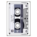 Customizable Cassette Tape - Grey Banner