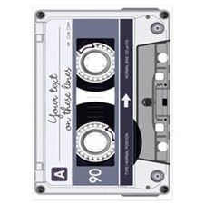 Customizable Cassette Tape - Grey Invitations