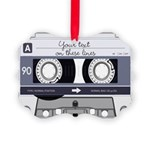 Customizable Cassette Tape - Grey Picture Ornament