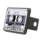 Customizable Cassette Tape - Grey Rectangular Hitc