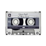 Customizable Cassette Tape - Grey Rectangle Magnet