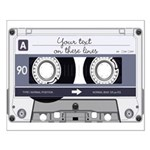 Customizable Cassette Tape - Grey Small Poster