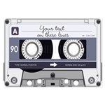 Customizable Cassette Tape - Grey 3.5 x 5 Flat Car